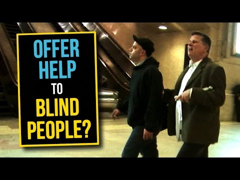 how to help a blind person eat