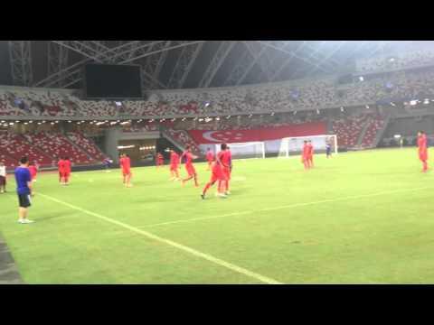 ជម្រើសជាតិកម្ពុជា ហ្វឹកហាត់នៅកីឡដ្ឋាន Singapore Sport Hub ត្រៀមជម្រុះ World Cup