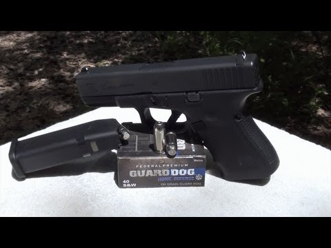 Federal Guard Dog 40 S&W 135gr Ballistic Gel Test