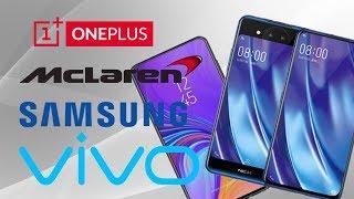 Samsung Galaxy A8S, Honor View 20, Vivo Nex 2, OnePlus 6T McLaren Edition.