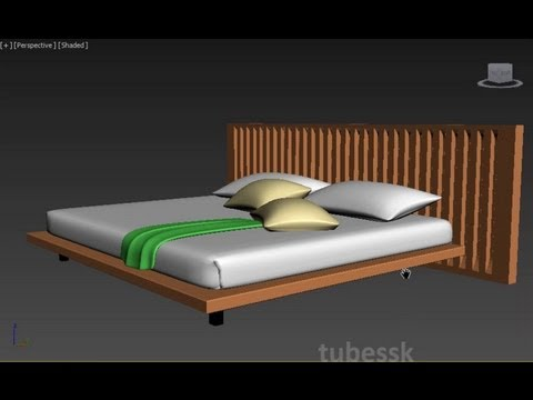 3ds max modern bed tutorial youtube for 3ds max bed model