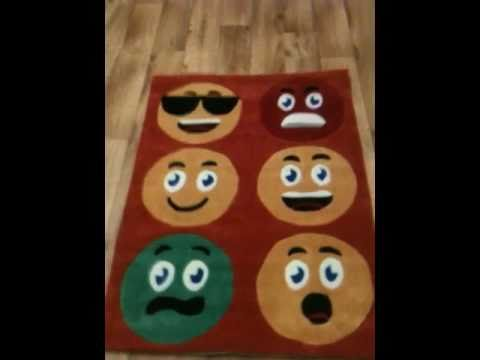 Watching video Kids rugs. Smiley's. 90cm x 120cm
