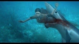 මෙයාවනන් ඇත්තටම දෙවියොම තමයි බේරගෙන තියෙන්නේ- Great white shark attacks, a rare shark attack video