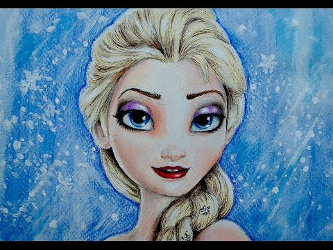 HOW TO DRAW ELSA FROM FROZEN / CÓMO DIBUJAR A ELSA DE FROZEN