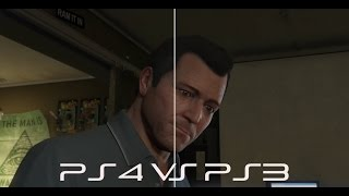 GTA 5 - PS4 vs PS3 Gameplay & Graphics Comparison [Cutscenes & Gameplay]