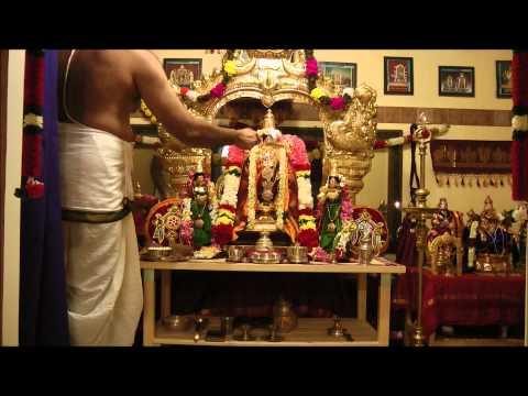 Perumal (sriman Narayana) Thiruvaradhana Seva - Ramanuja Jayanthi Utsavam 2012 video