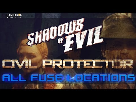 Shadows of Evil: How to Summon Civil Protector & All Fuse Locations [Black Ops 3 Zombies]