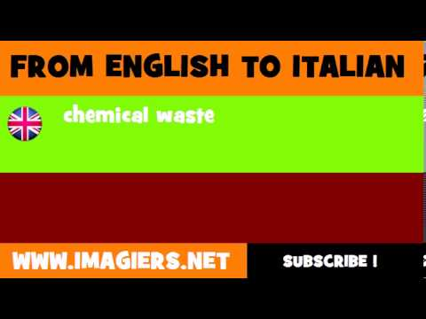 How to say chemical waste in Italian