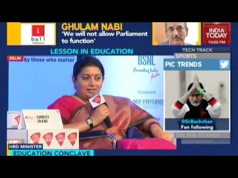 Newsroom: Smriti Irani On Upcoming Education Policy And More