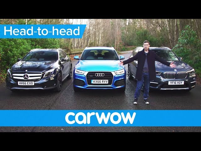 BMW X1 vs Mercedes GLA vs Audi Q3 2017 SUV review | Mat ...