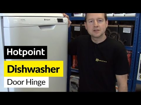How to replace a broken dishwasher door hinge - Hotpoint