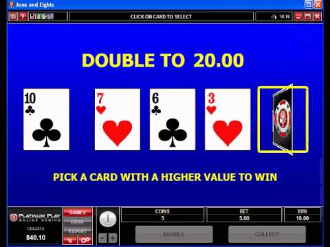A variety of Online Video Poker Games available at Platinum Play Online Casino