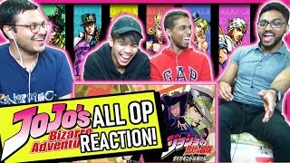 JOJO'S BIZARRE ADVENTURE ALL OPENINGS 1-9.5 REACTION! Anime Reaction #9