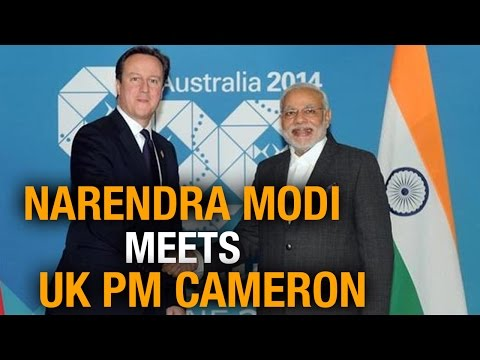 PM Modi meets United Kingdom PM David Cameron at G 20 Summit in Australia