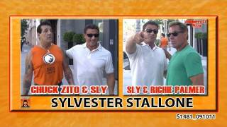 Sylvester Stallone with old friends  Chuck Zito & Richie Palmer S1481