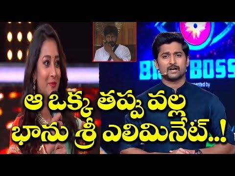 Bhanu Sree Eliminated From Big Boss Telugu Season 2 | Nani | Film Jalsa