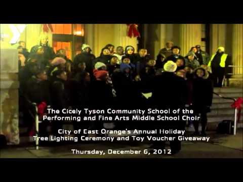 East Orange YMCA - 2012 City of East Orange's Tree Lighting Ceremony with the Cicely Tyson Choir