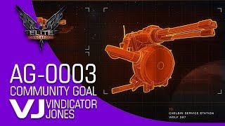 AG 0003 Community Goal Elite Dangerous