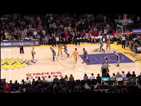 04 12 2013   Warriors vs  Lakers   Kobe Bryant Gets Injured Multiple Times But Fights Until The End