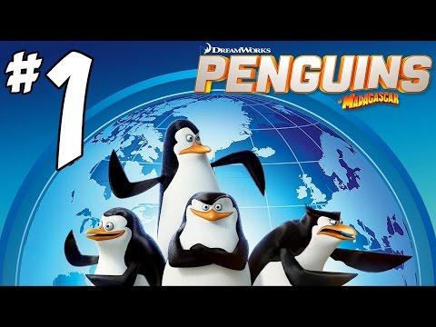 Penguins Of Madagascar Video Game Walkthrough - Part 1 - Cheezy Dibbles! (wii U Gameplay) video