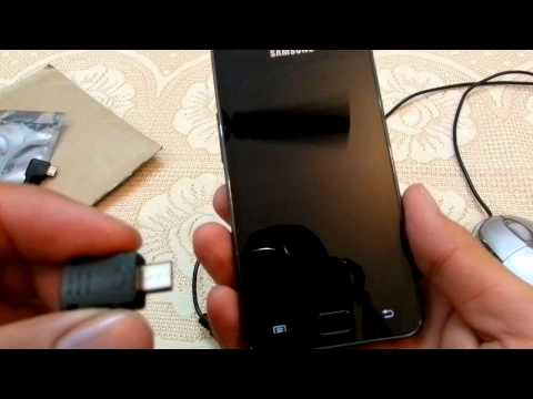 Samsung Galaxy S2. S3. S4 - How to use Pen Drive. USB Mouse. OTG Cable. USB Jig. Call Recorder