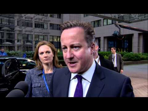 European Council - UK Prime Minister David Cameron