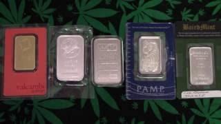 Gold Silver Platinum Palladium Rhodium