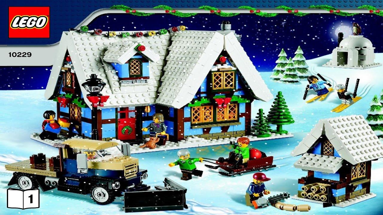 lego winter village cottage instructions