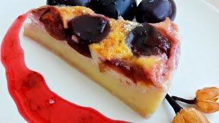 Бретонский фар - изумительный пирог со сливами     Far Breton-cake with plums