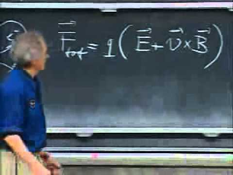 Lec 11: Magnetic field and Lorentz Force   8.02 Electricity and Magnetism (Walter Lewin)