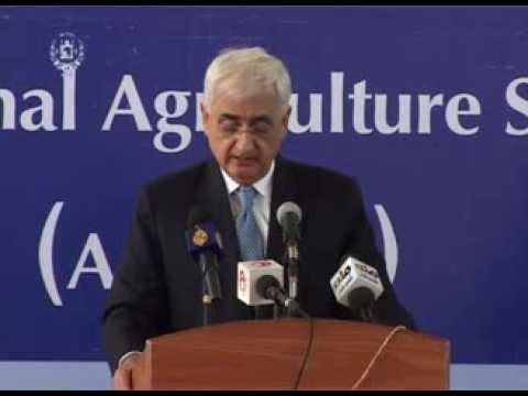 Indian External Affairs Minister Salman Khurshid Remarks at the Inauguration of ANAS&TU in Kandahar