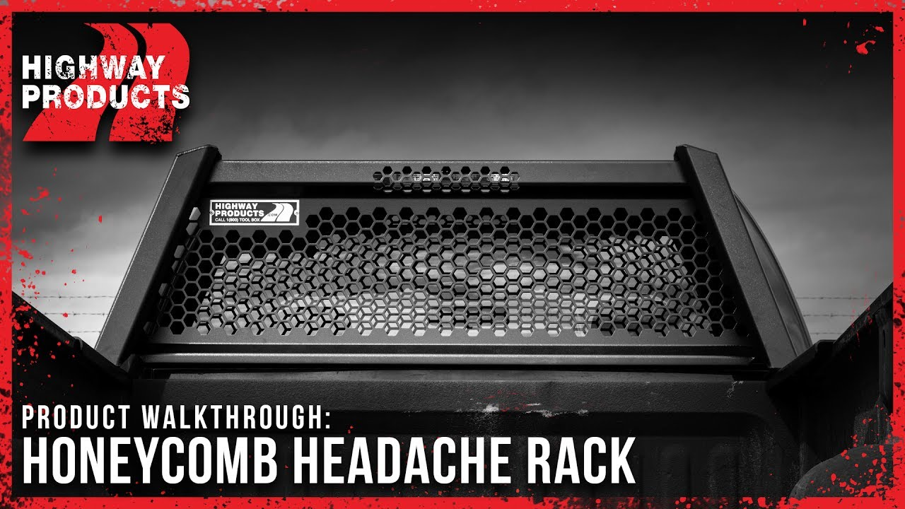 Honeycomb Headache Rack By Highway Products Youtube