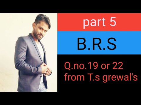 Part 5 #BRS balance as per pass book overdraft by Anil GOSWAMI