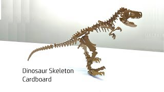 How to make Dinosaur Skeleton From Cardboard - Free templates