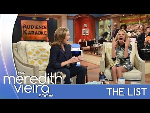 Kristin Chenoweth's Audience Karaoke Competition! - #TheList | The Meredith Vieira Show