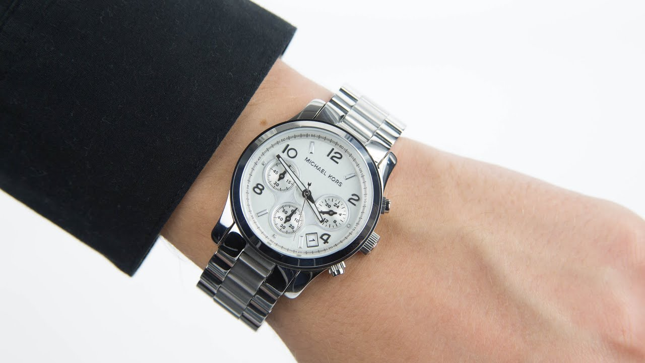 michael kors ladies chronograph watch mk5076 youtube