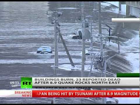 Scary footage: Tsunami waves raging, buildings burn after 8.9 Japan earthquake