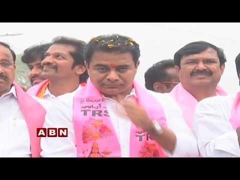 KTR Road Show | Election Campaign at Khammam | ABN Telugu