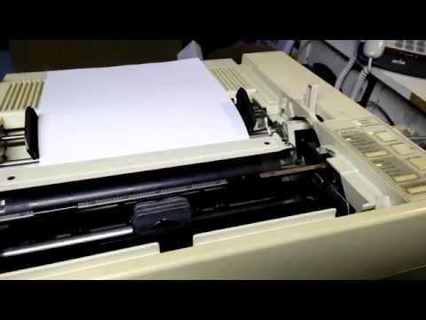 Epson LQ 850 Dot Matrix Printer printing out