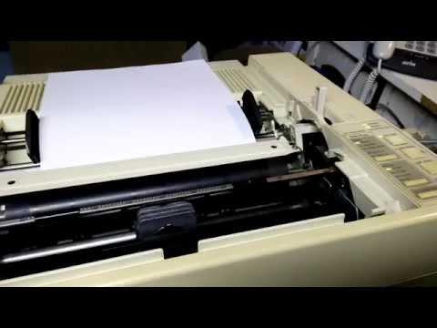 Epson LQ 850 Dot Matrix Printer printing out