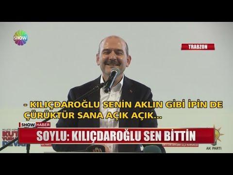 """Soylu: """"Kılıçdaroğlu sen bittin"""""""