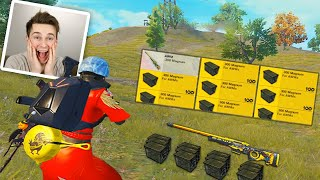 FOUND A CRATE WITH INFINITY AWM AMMO! | PUBG MOBILE