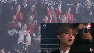 idol[stray kid twice momoland 청하] react to BTS & Charlie Puth collaboration at MGA 2018
