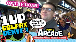 John goes to 1UP COLFAX Bar Arcade in Denver, CO -- All access tour with Jon Exidy