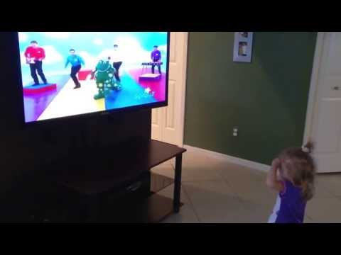 Ava dancing to the Wiggles