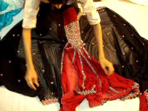 Black And Red Saree Video video
