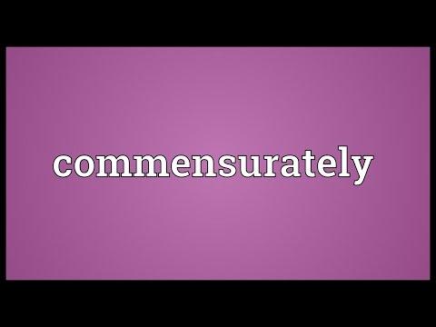 Header of commensurately