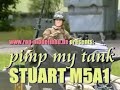 """pimped"" RC Tank Stuart M5A1 in 1/6th"