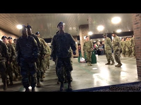ARMY BCT Drill Sergeants CALL CADENCE at Fort Jackson