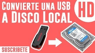 Convierte una USB a Disco local (Disco Duro) [FUNCIONABLE]
